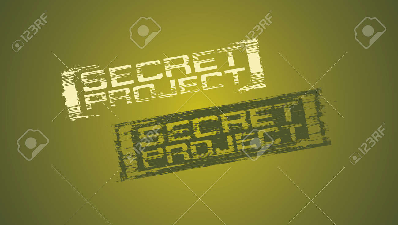 Secret project vector rubber stamp Stock Vector - 15148440
