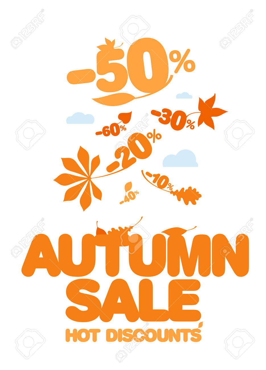 autumn design template hot discounts royalty cliparts autumn design template hot discounts stock vector 15311981