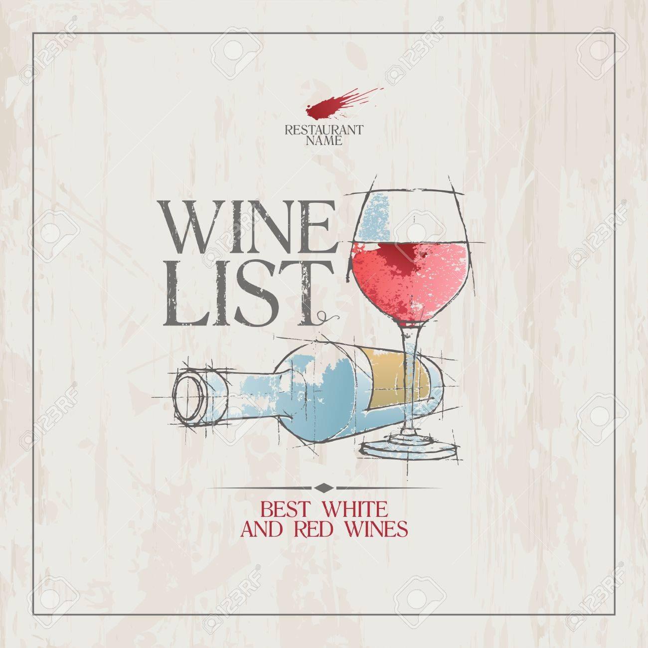 Wine List Menu Card Design Template Royalty Free Cliparts – Free Wine List Template