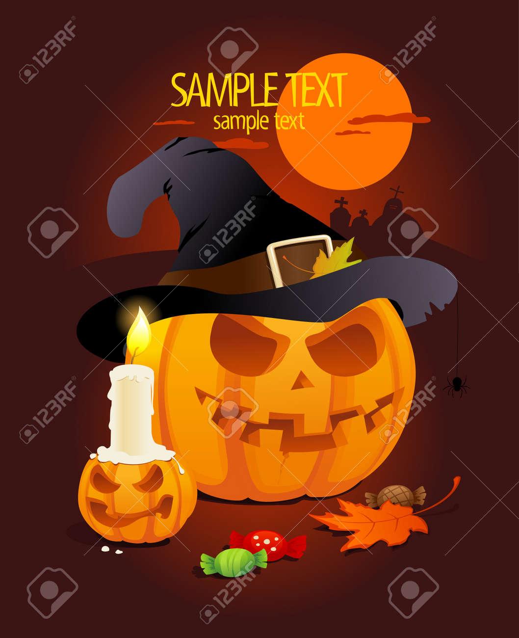 Halloween pumpkins design template Stock Vector - 15413665