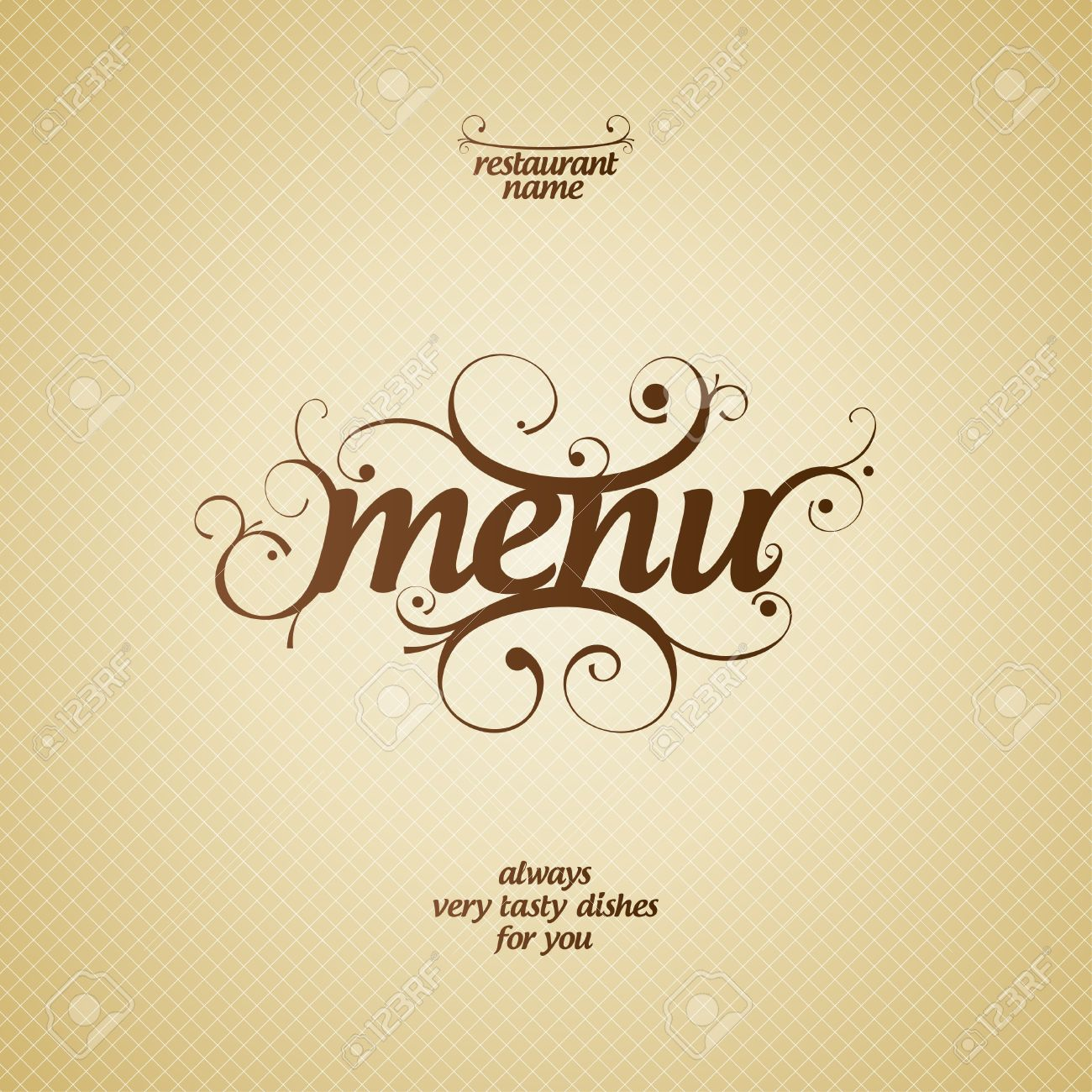 Restaurant Menu Card Background Design