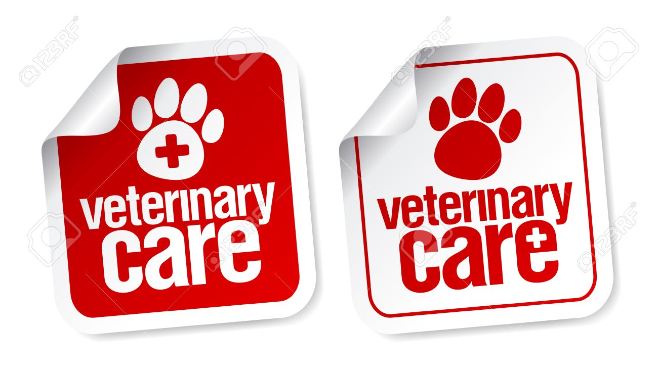 Veterinary care stickers set. Stock Vector - 15544145