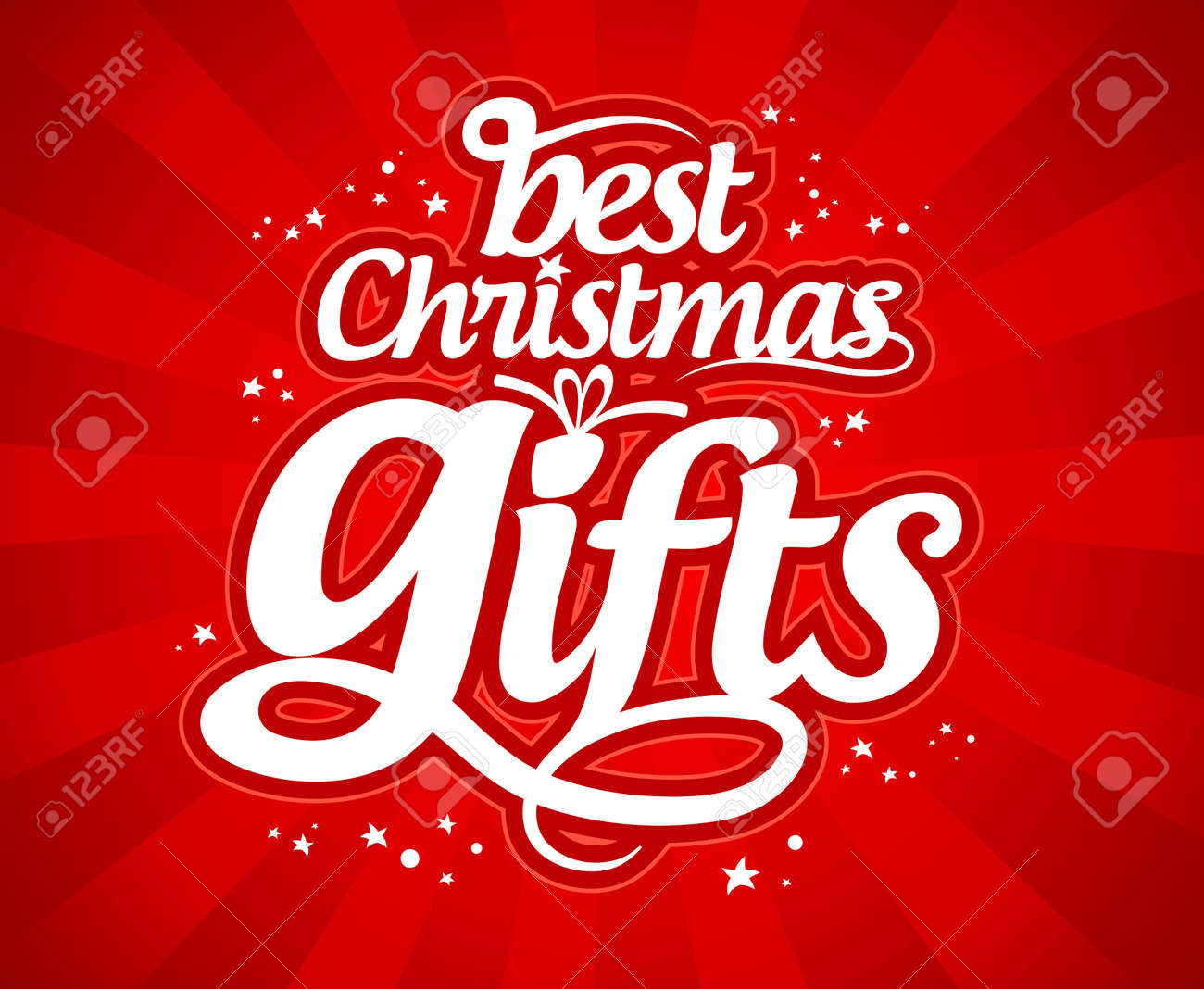 Best Christmas gifts design template. Stock Vector - 16101937