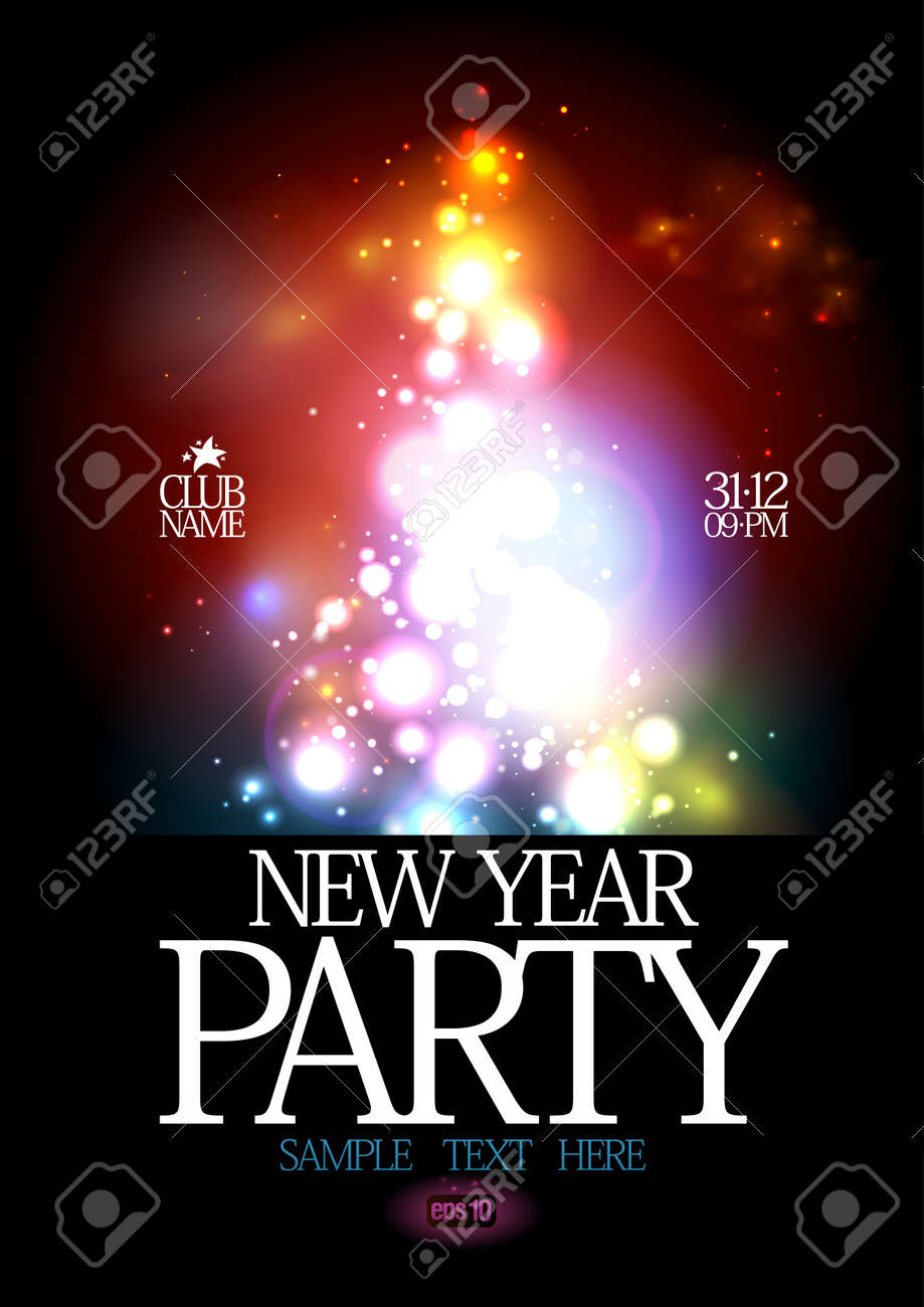 New Year Party design template Stock Vector - 16318311