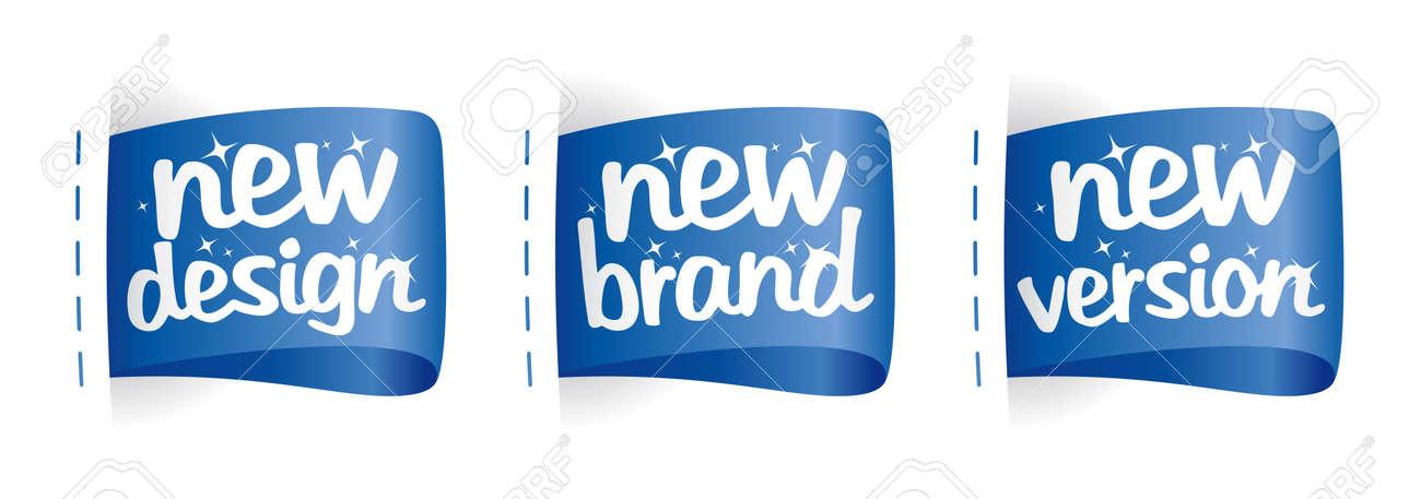 New Brand, Design, Version  labels set Stock Vector - 16527980