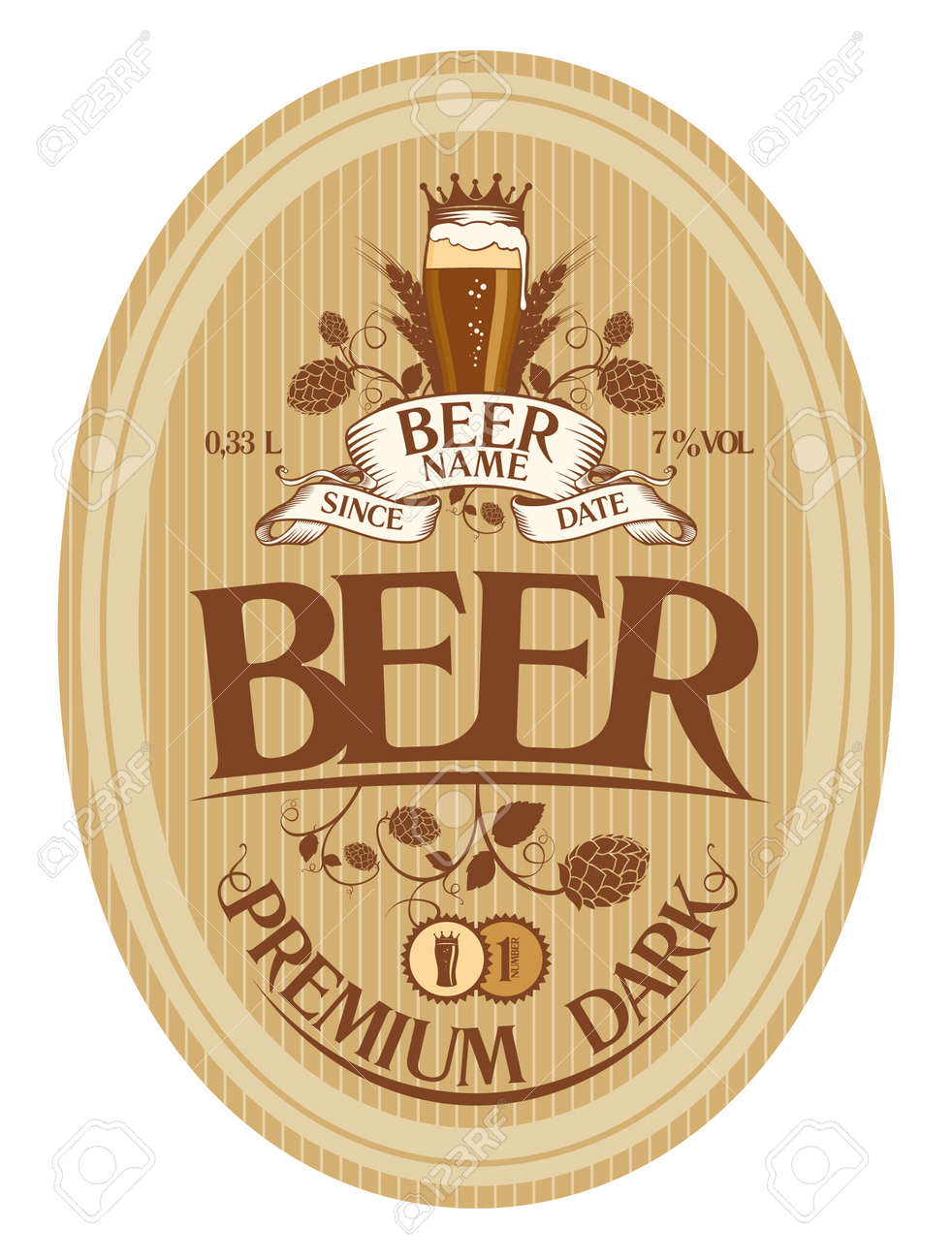 beer label design template royalty free cliparts vectors and stock