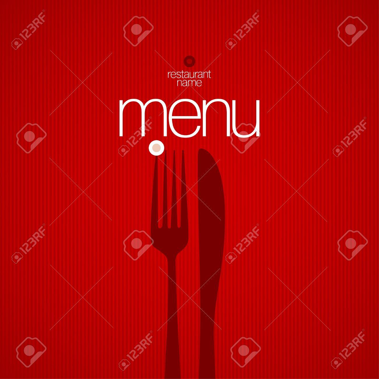 restaurant menu card design template. royalty free cliparts