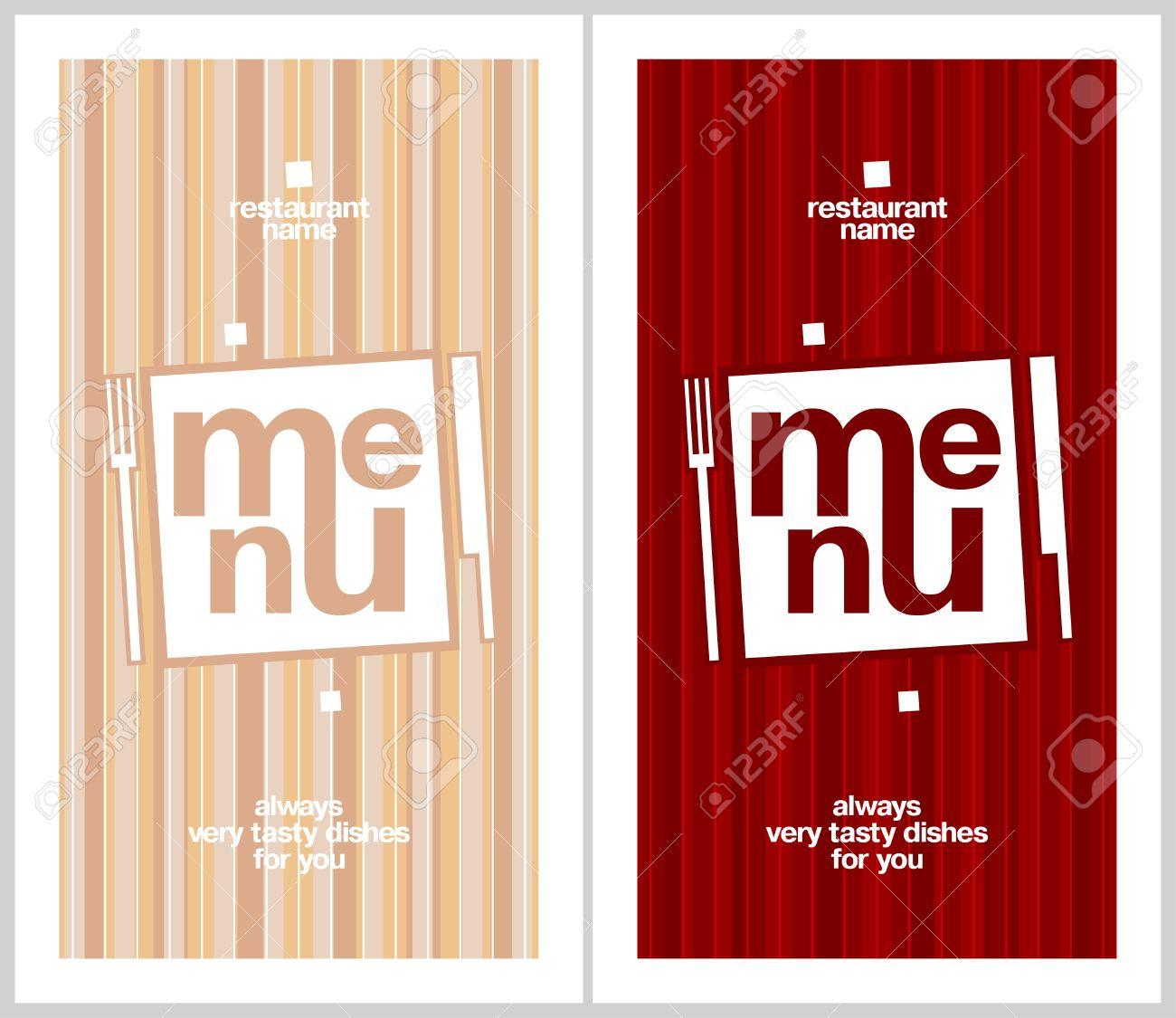 restaurant menu card design template long format royalty free