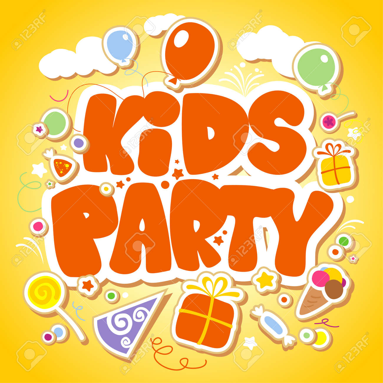 Kids Party design template Stock Vector - 17932716