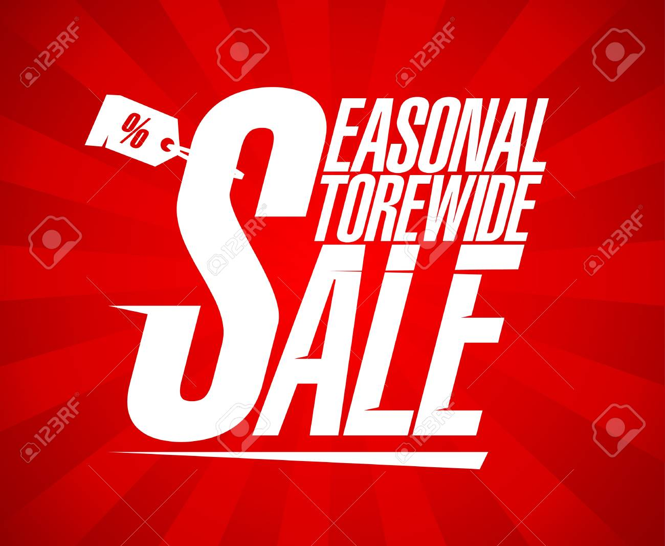 Seasonal storewide sale design template. Stock Vector - 17928795