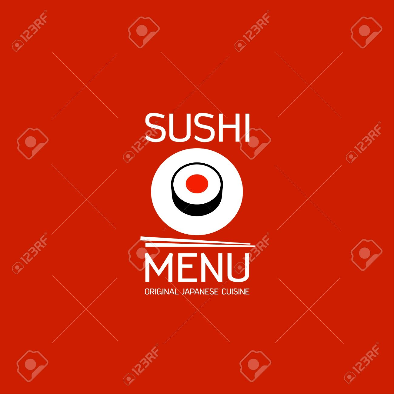 Sushi menu card design template Stock Vector - 18167589