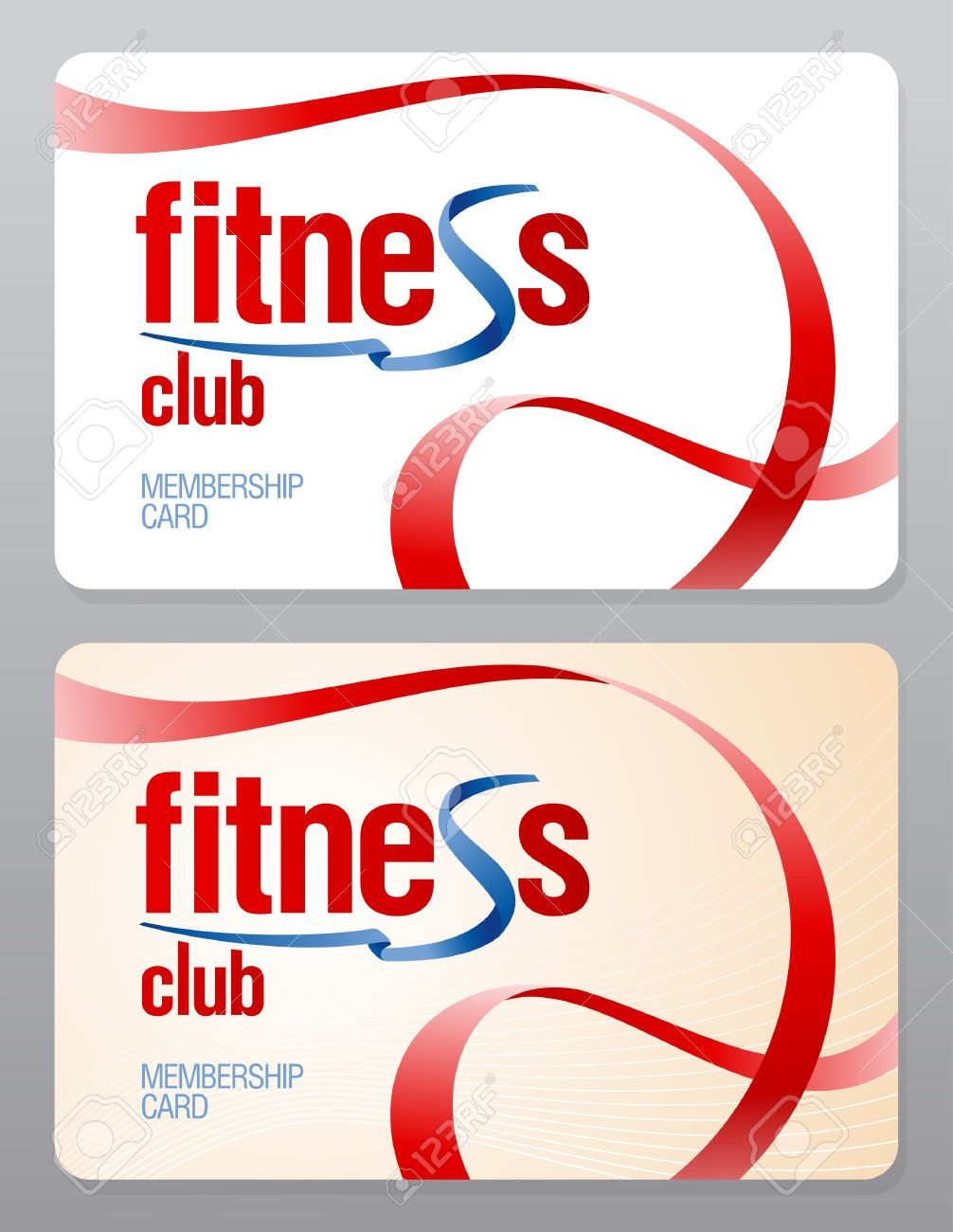 Fitness Club Membership Card Design Template. Royalty Free ...