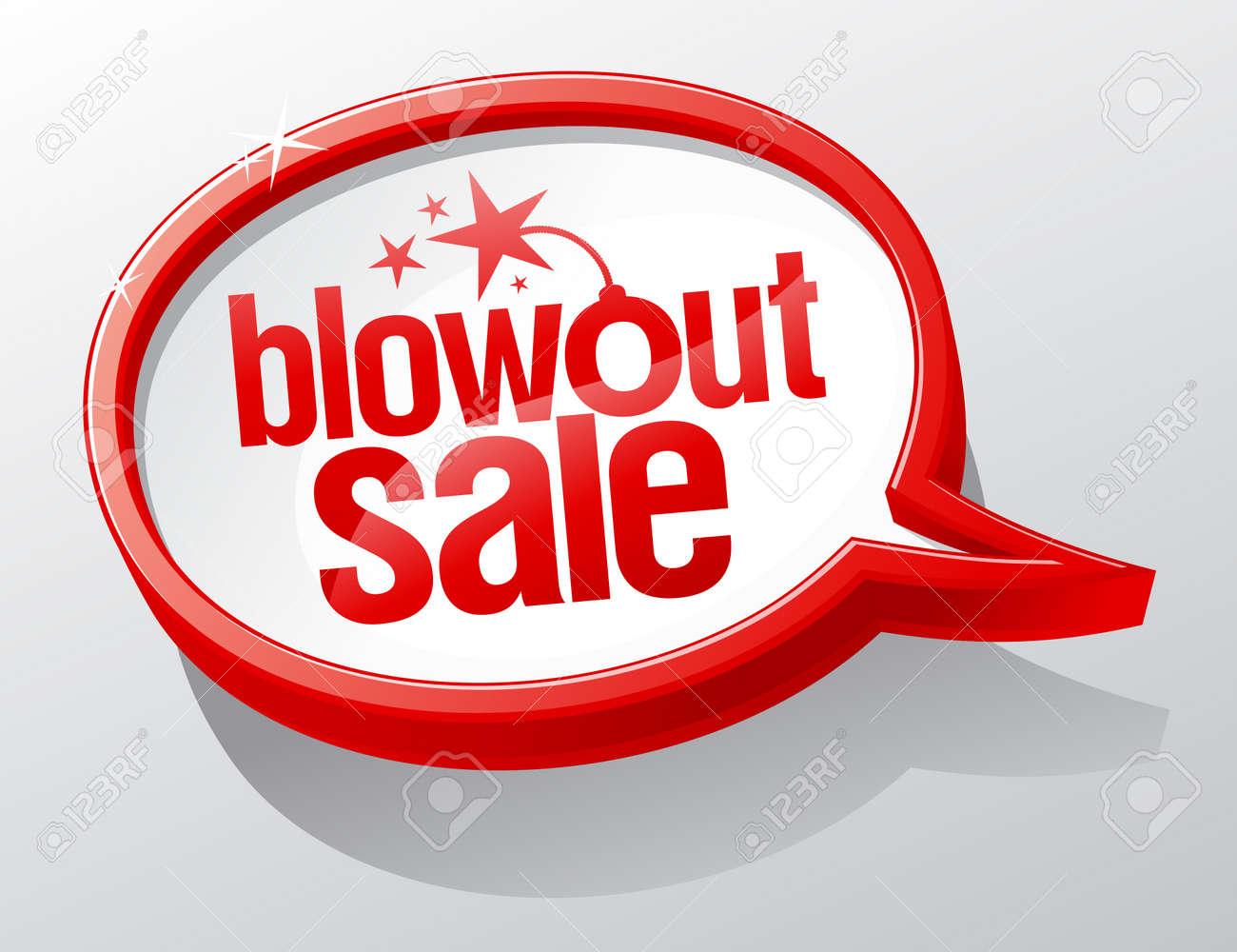 Blowout sale shiny glass speech bubble Stock Vector - 19755413
