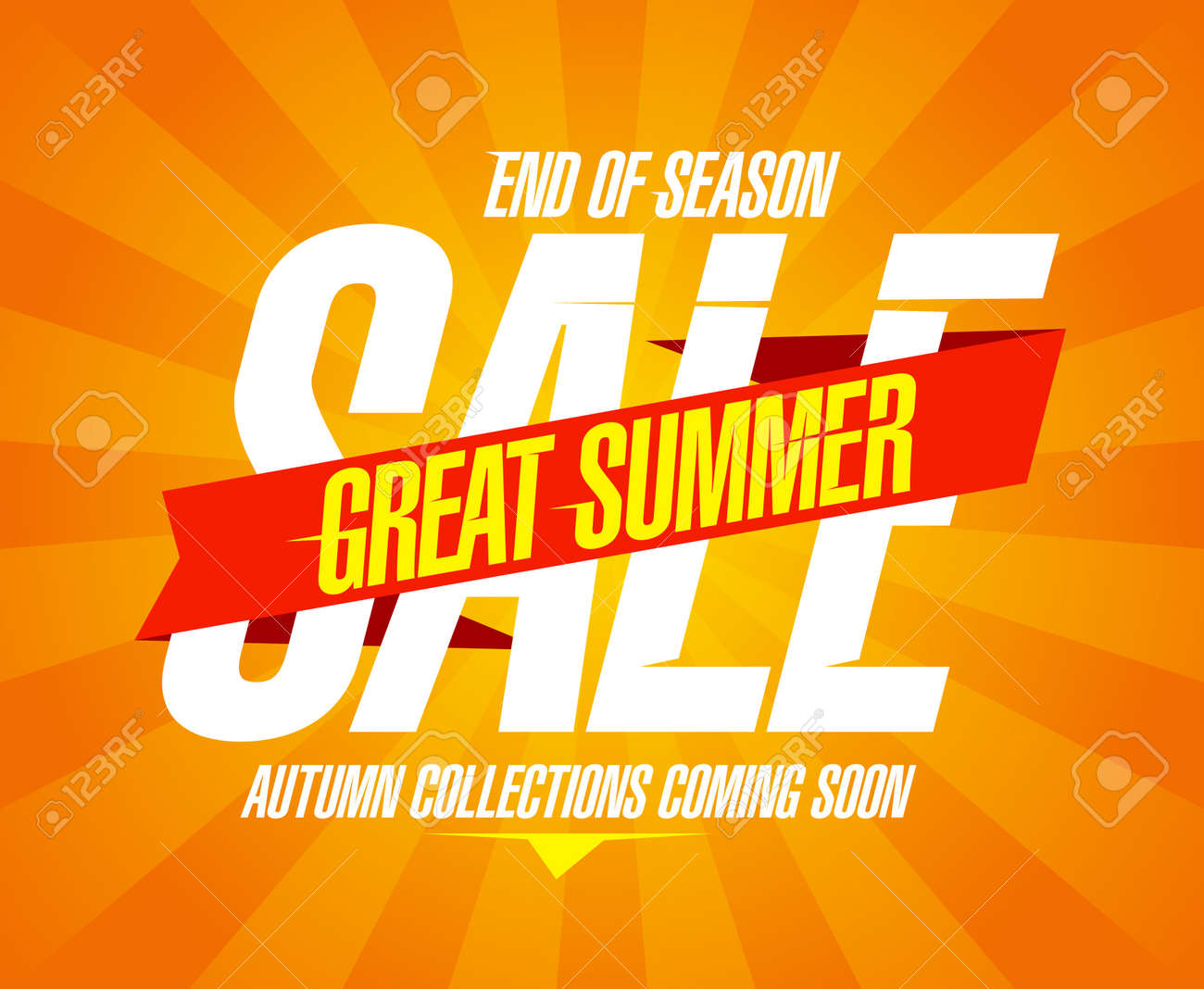 Great Summer Sale Design Template Royalty Free Cliparts Vectors – Sales Promotion Template