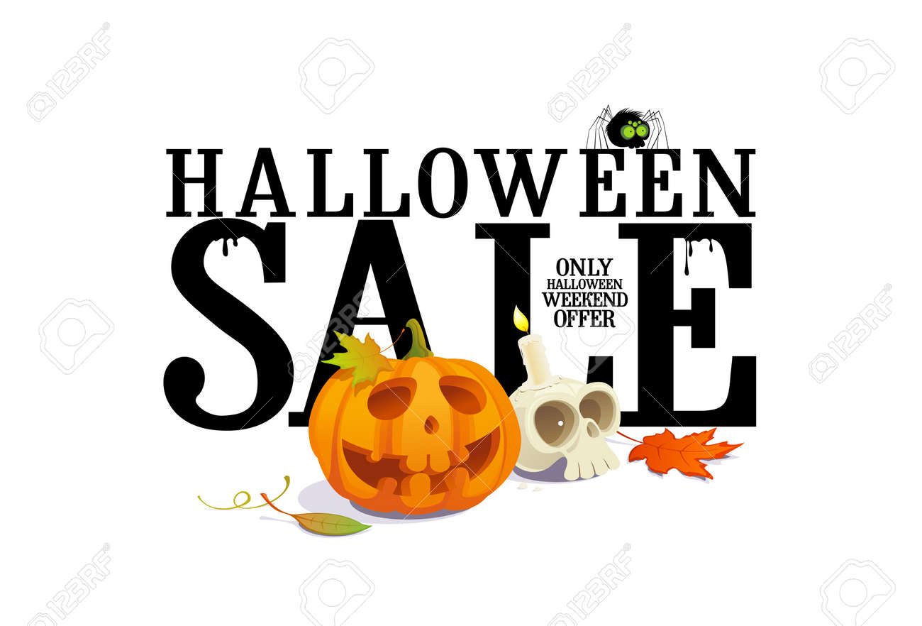 Exceptional Halloween Sale Offer Design Template. Stock Vector   21947402