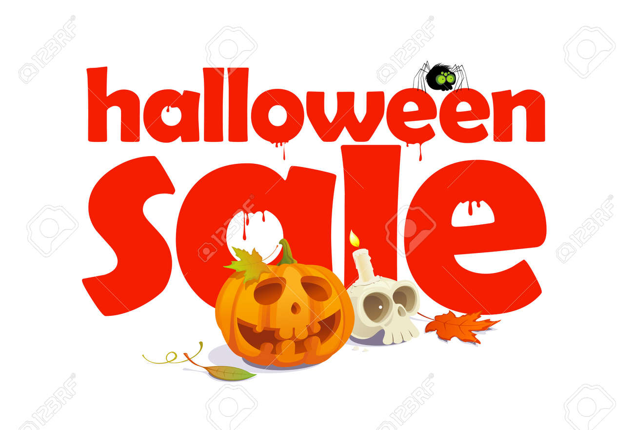 Halloween sale typography and spooky background - Download Free Vectors,  Clipart Graphics & Vector Art