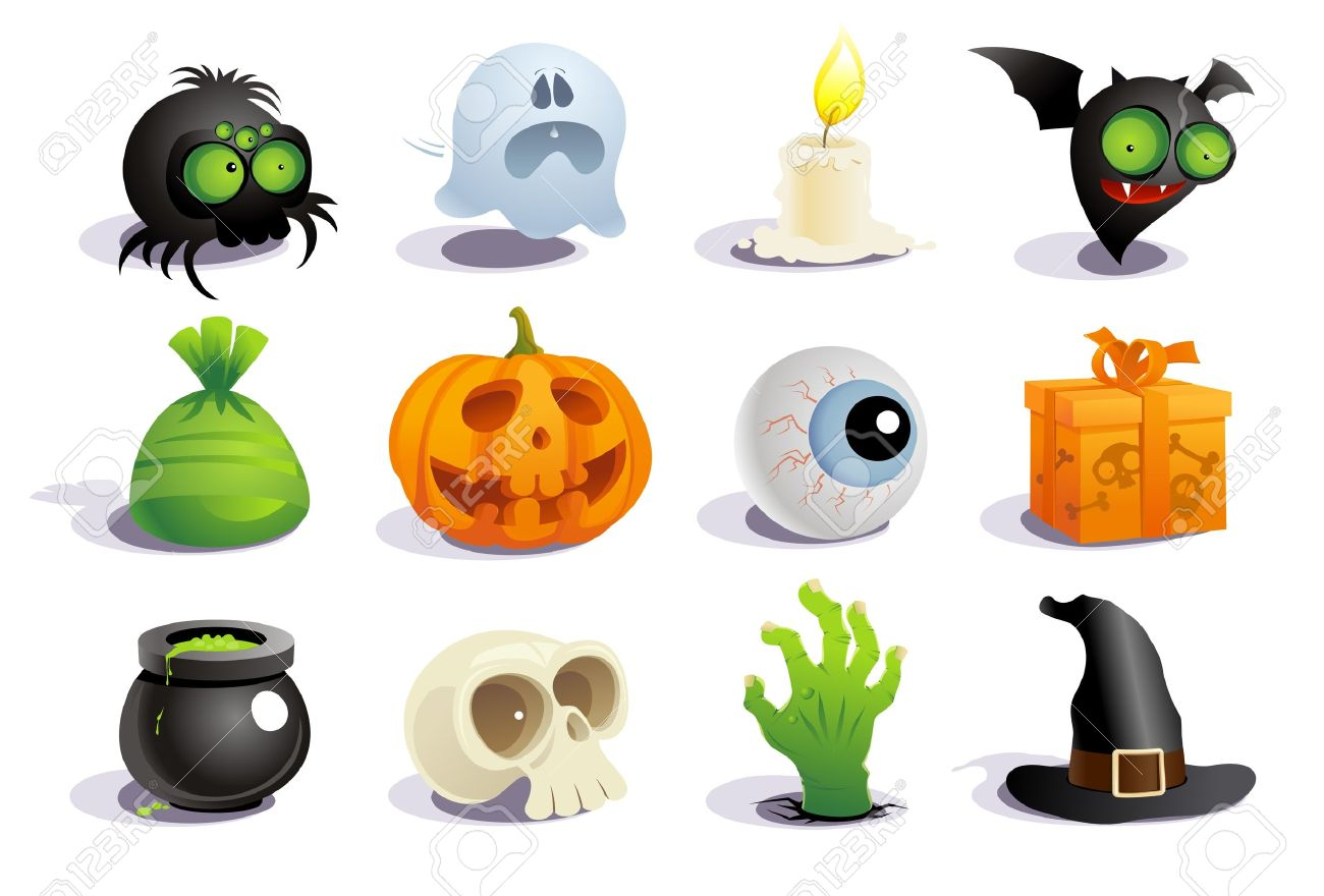Halloween Symbols Collection. Royalty Free Cliparts, Vectors, And ...