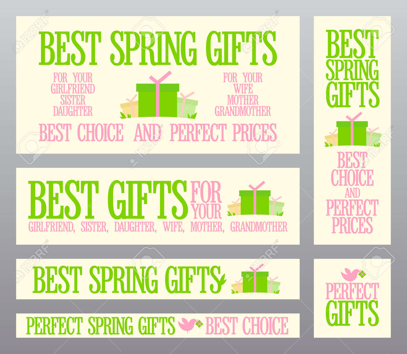 Best Spring gifts banners set. Stock Vector - 25961100