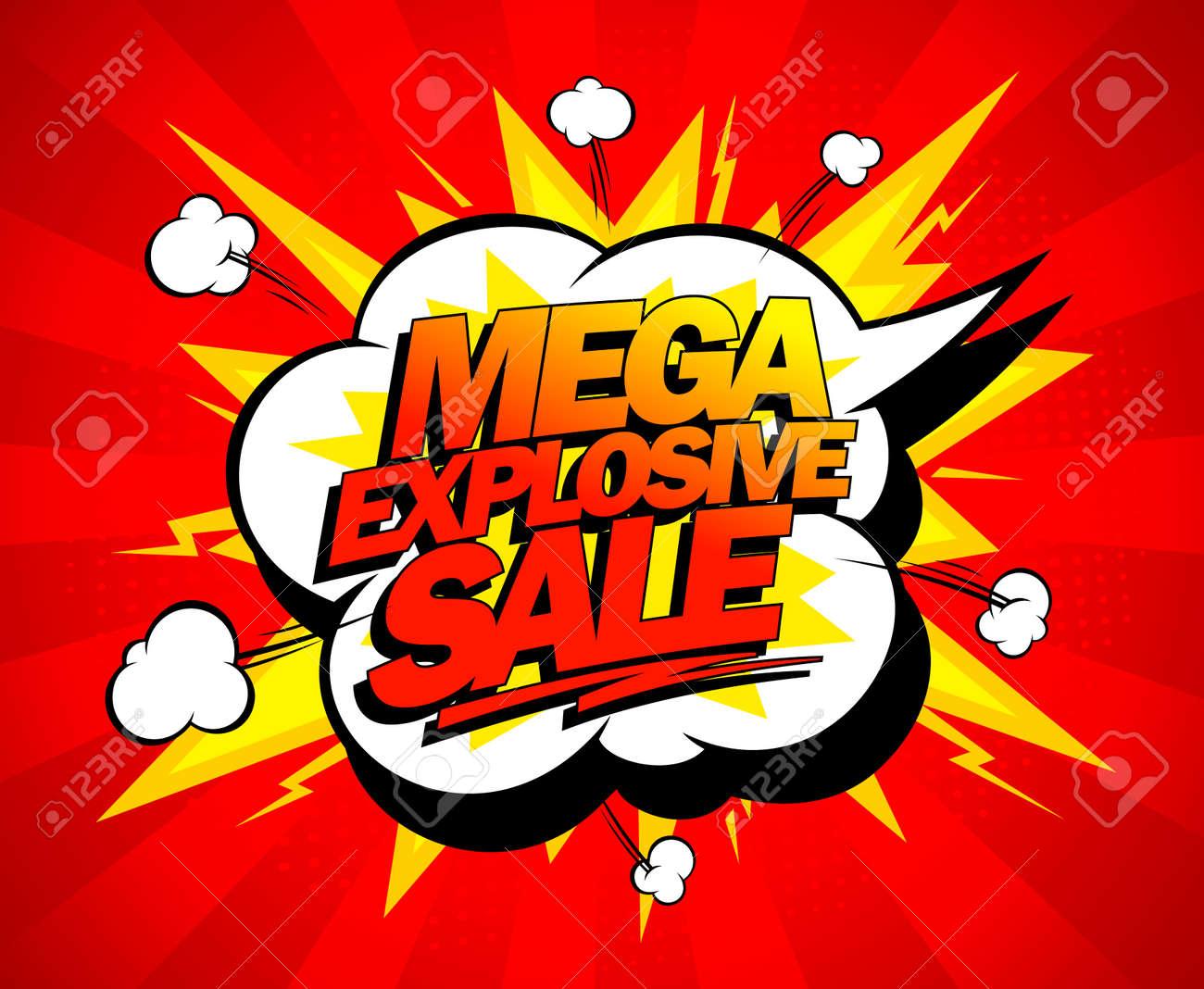 Mega explosive sale design, comics style. Stock Vector - 25941187