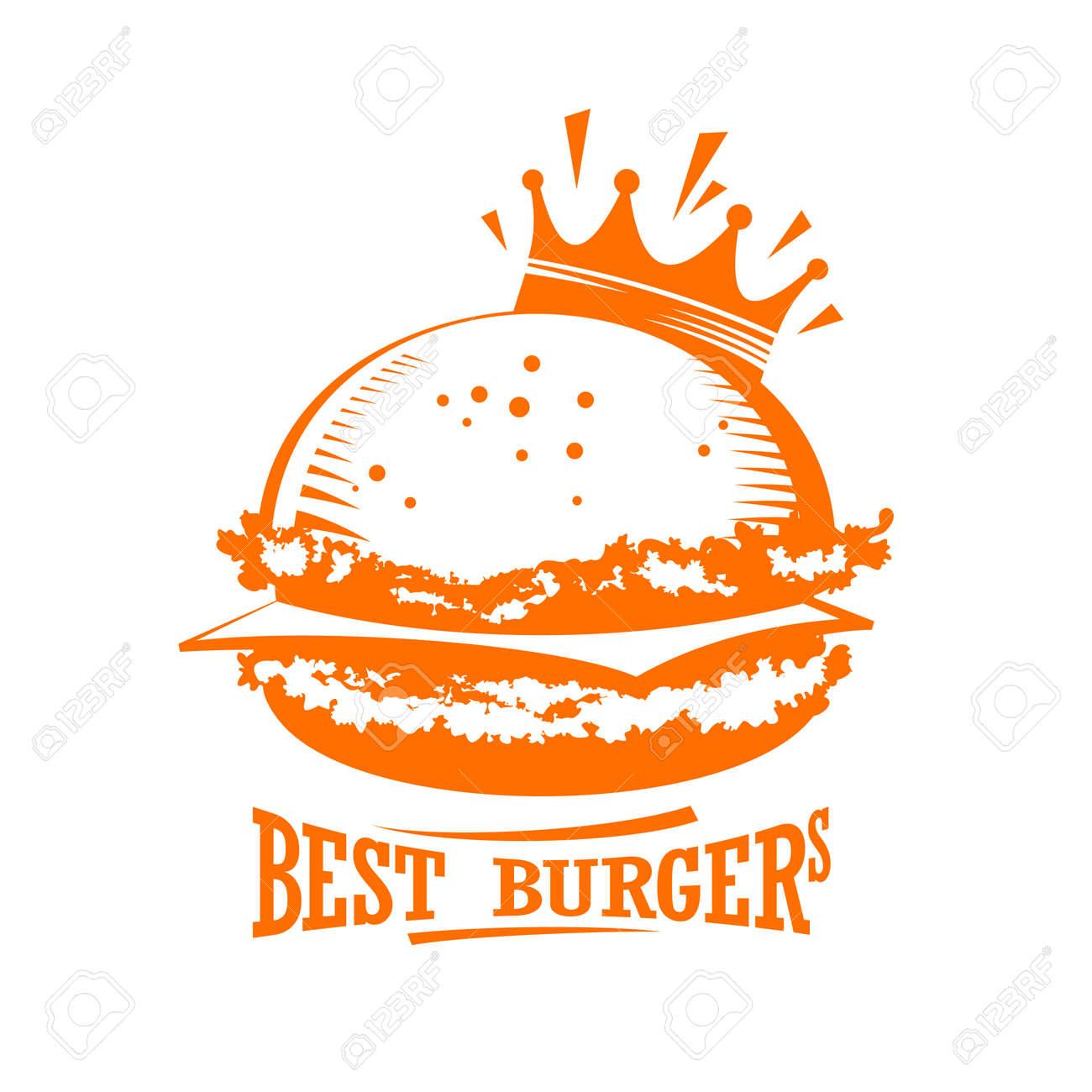 Las Mejores Hamburguesas Logo Gráfico Ilustraciones Vectoriales
