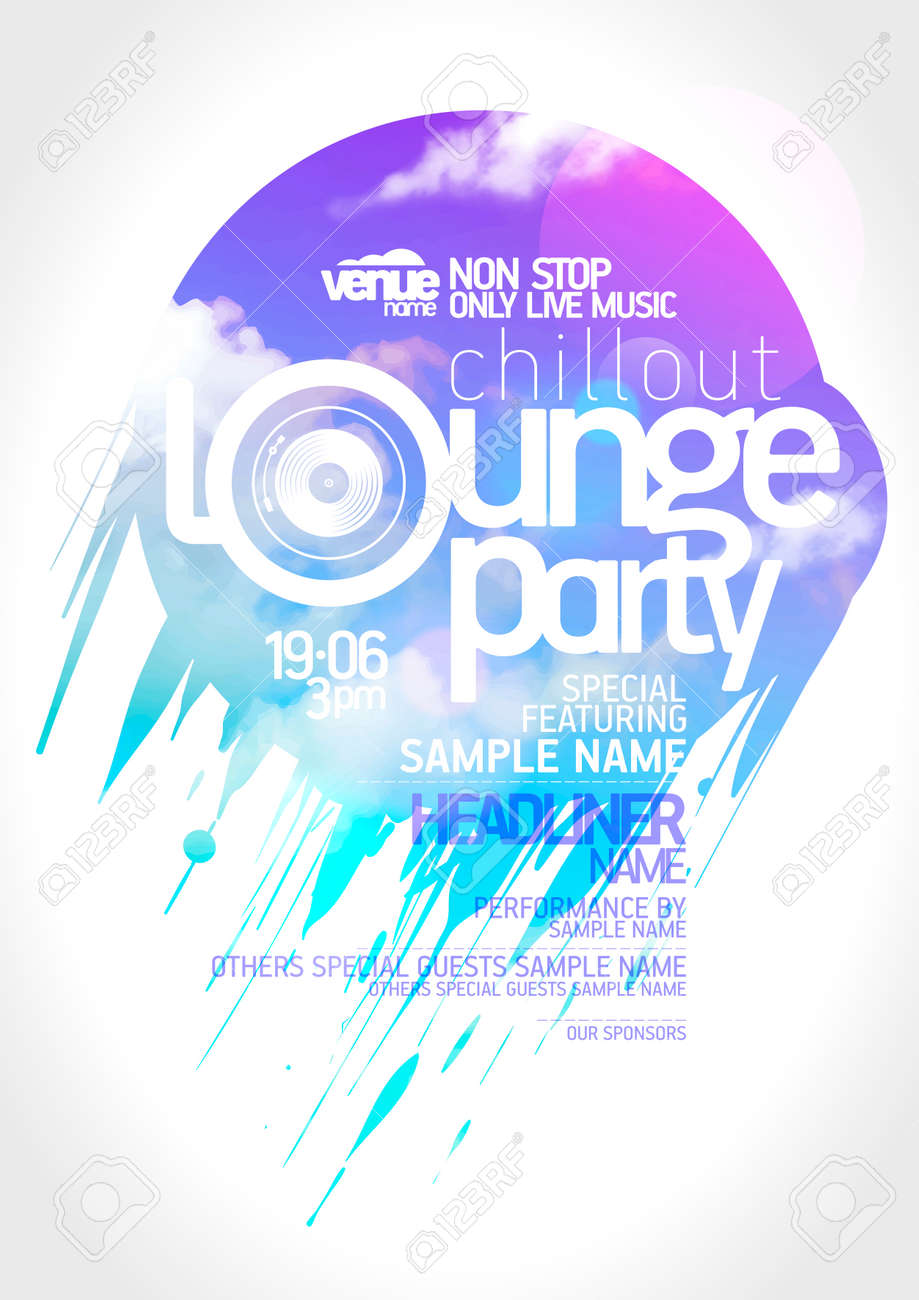 Poster design free - Art Lounge Party Poster Design Stock Vector 41962511