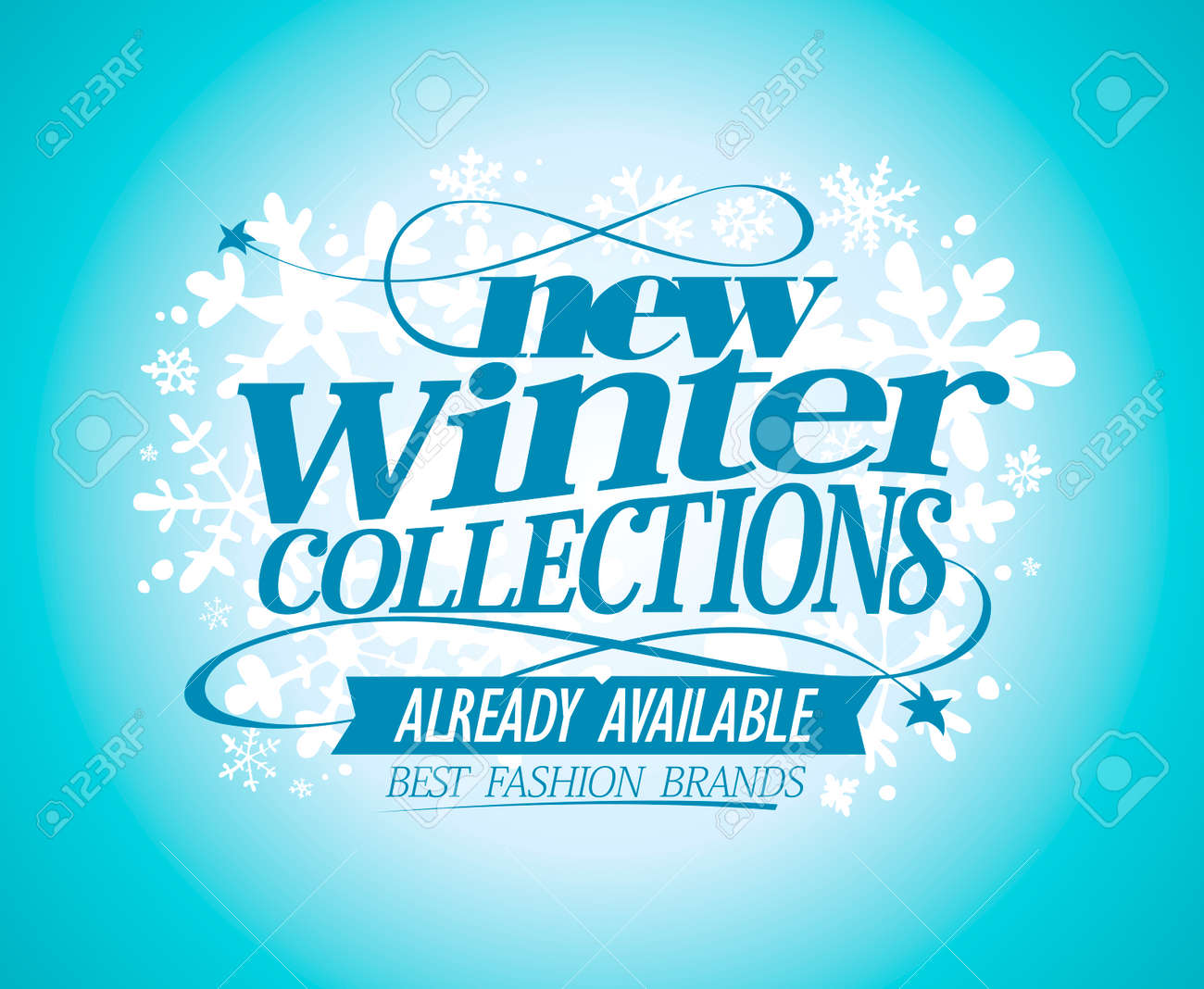 Fashion vector poster New winter collections already available,..