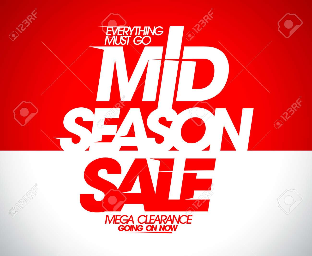 c9c829c61765e Mega clearance going on, mid season sale banner. Stock Vector - 55088530