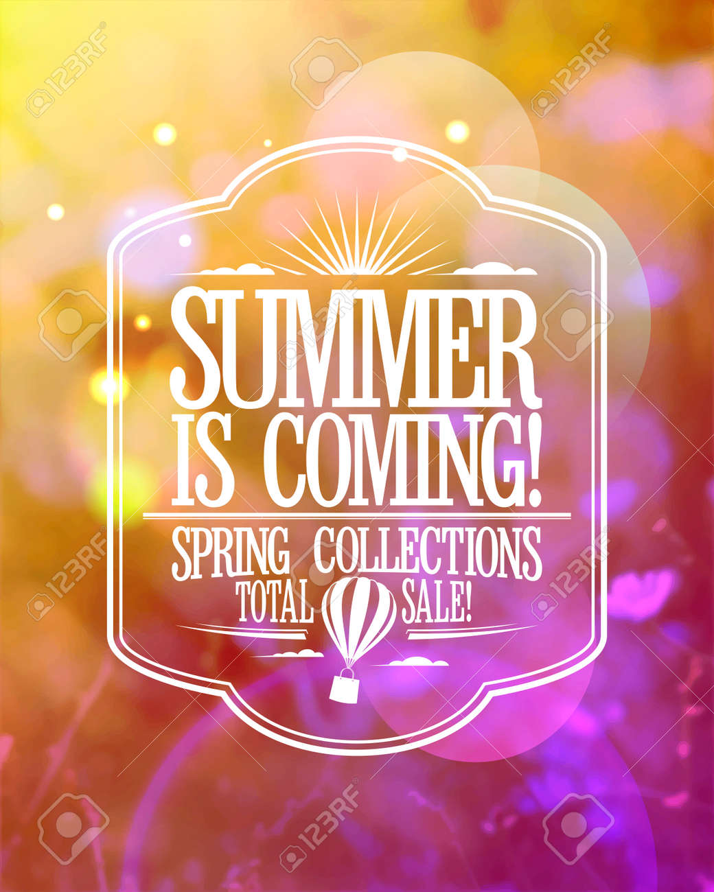 Fashion banner - summer is coming, spring collections total sale - 55089325