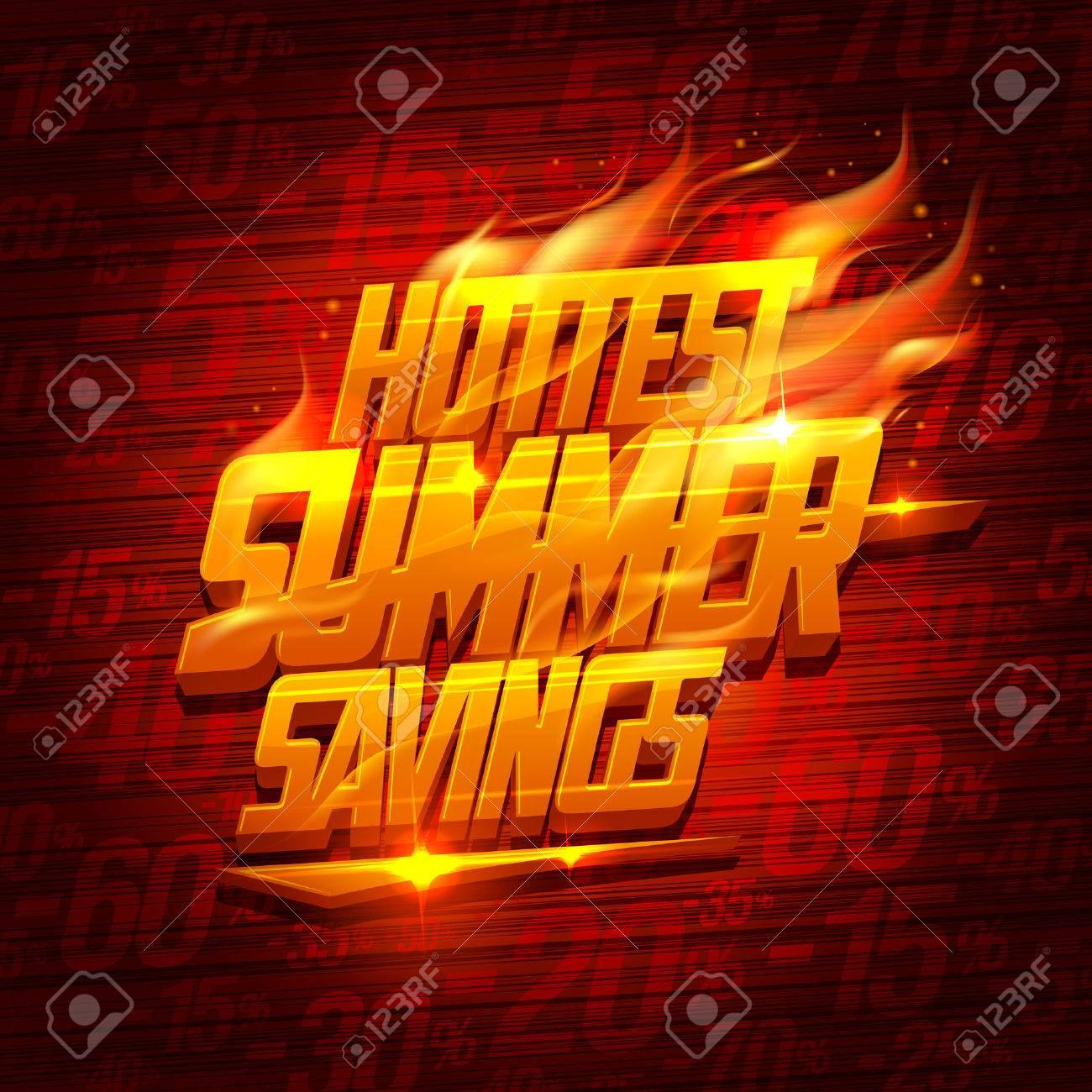 Hottest summer savings, original sale design - 58436019