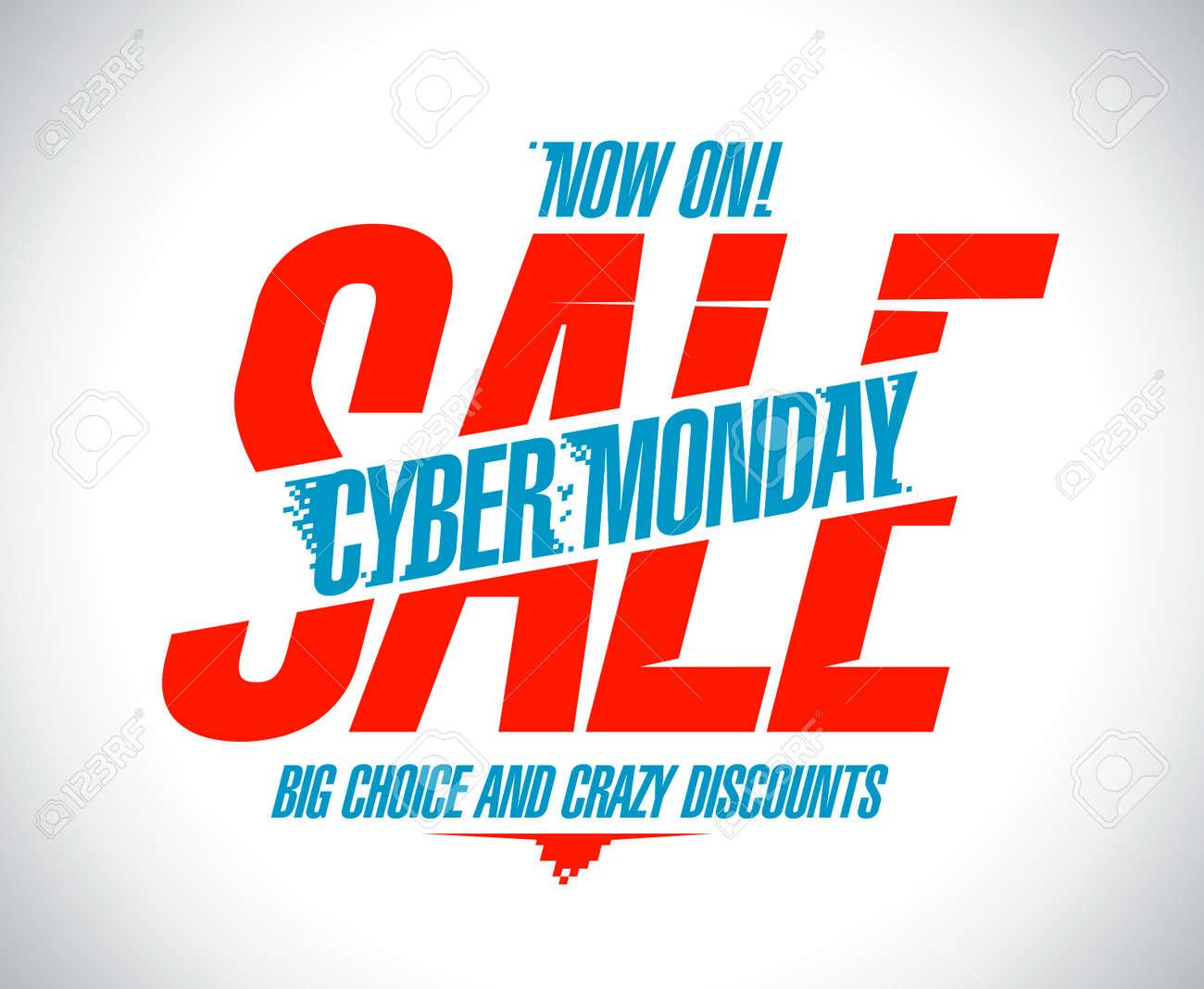 06a0b9b831a Cyber monday sale design, crazy discounts.