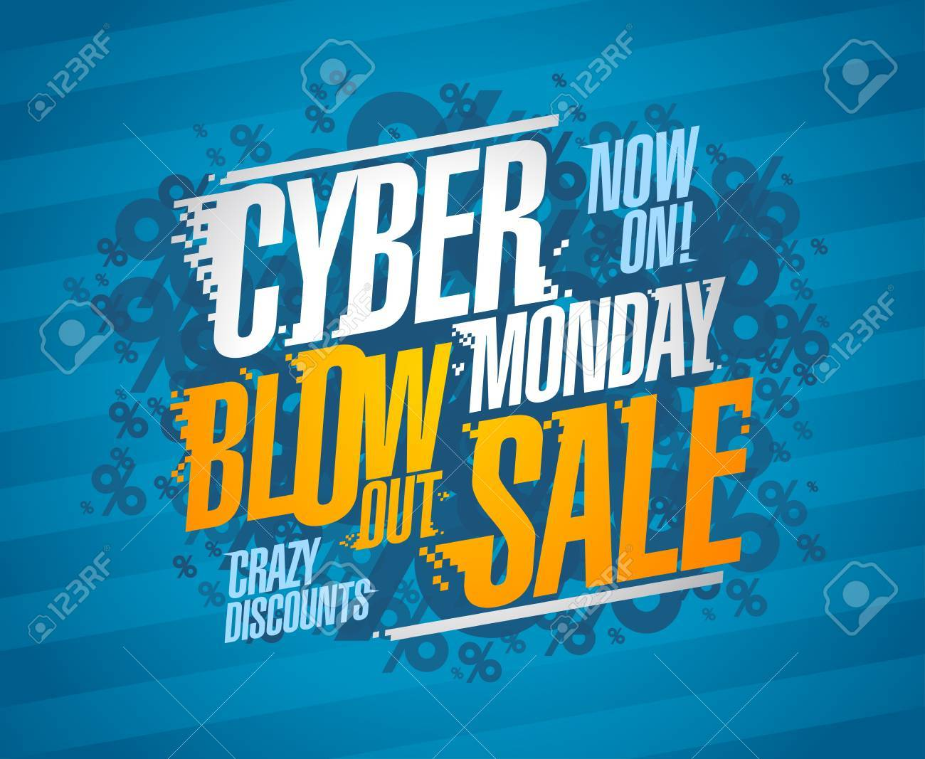 b74fbf5eb50 Cyber monday blow out sale, crazy discounts poster