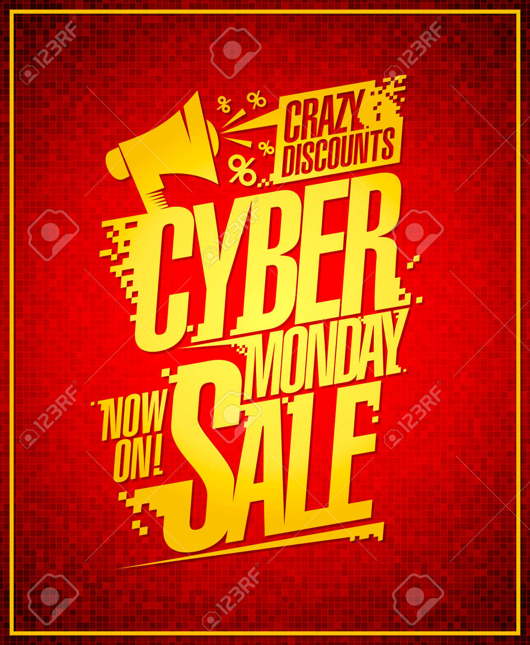 4230f19d785 Cyber Monday crazy discounts sale banner.