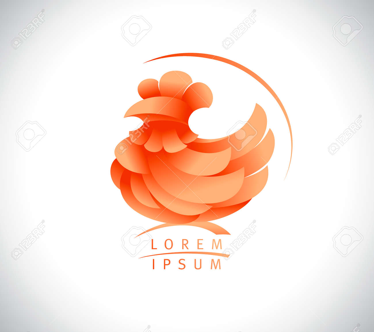 Hen or rooster vector logo concept - 108574694