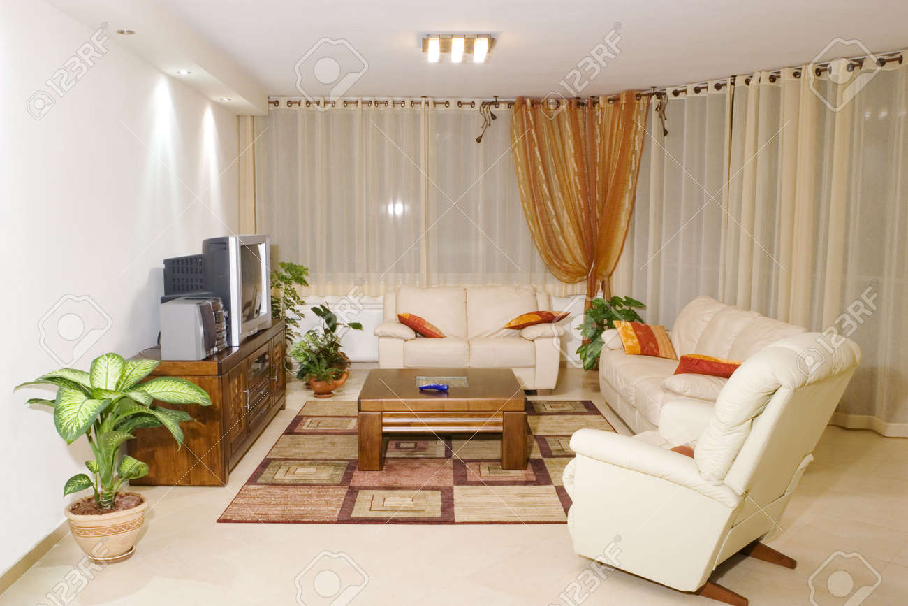 Living room suite of soft furniture, modern interior, feng-shui style Stock Photo - 2947521