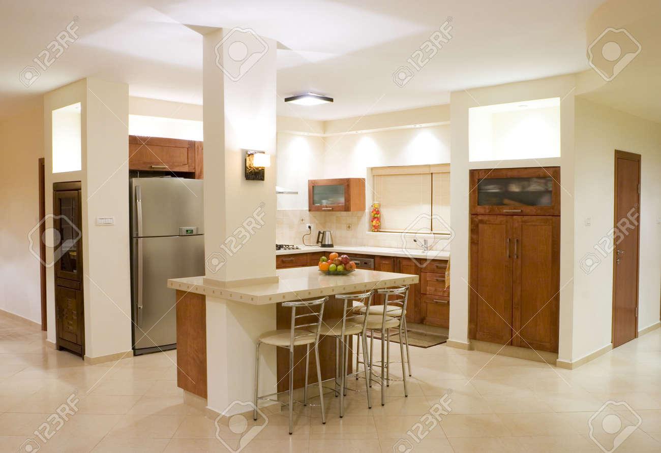 Die Moderne Küche Zimmer, Luxus-Design Lizenzfreie Fotos, Bilder Und ...