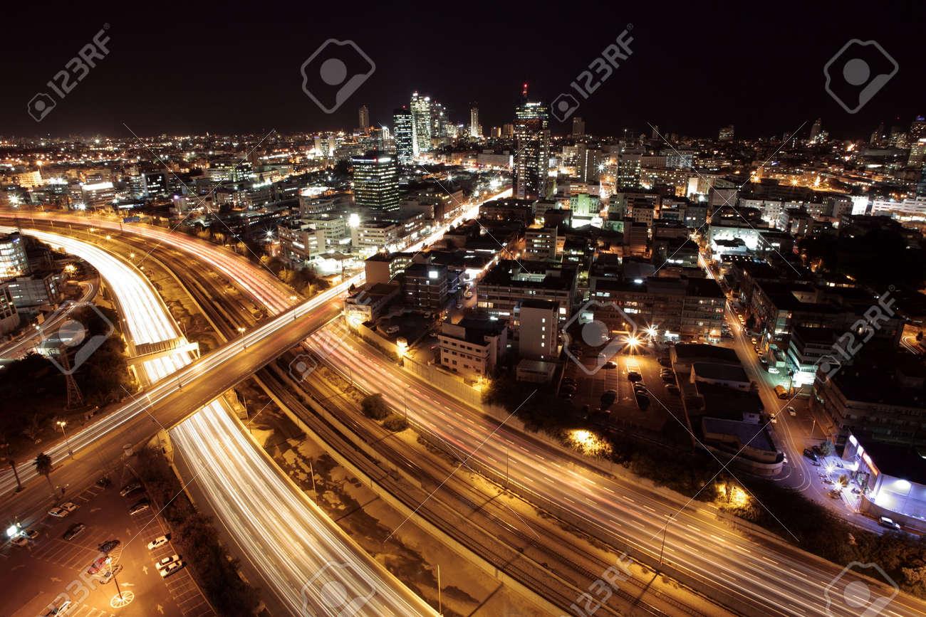 tel aviv skyline tel aviv at twilight the night city view