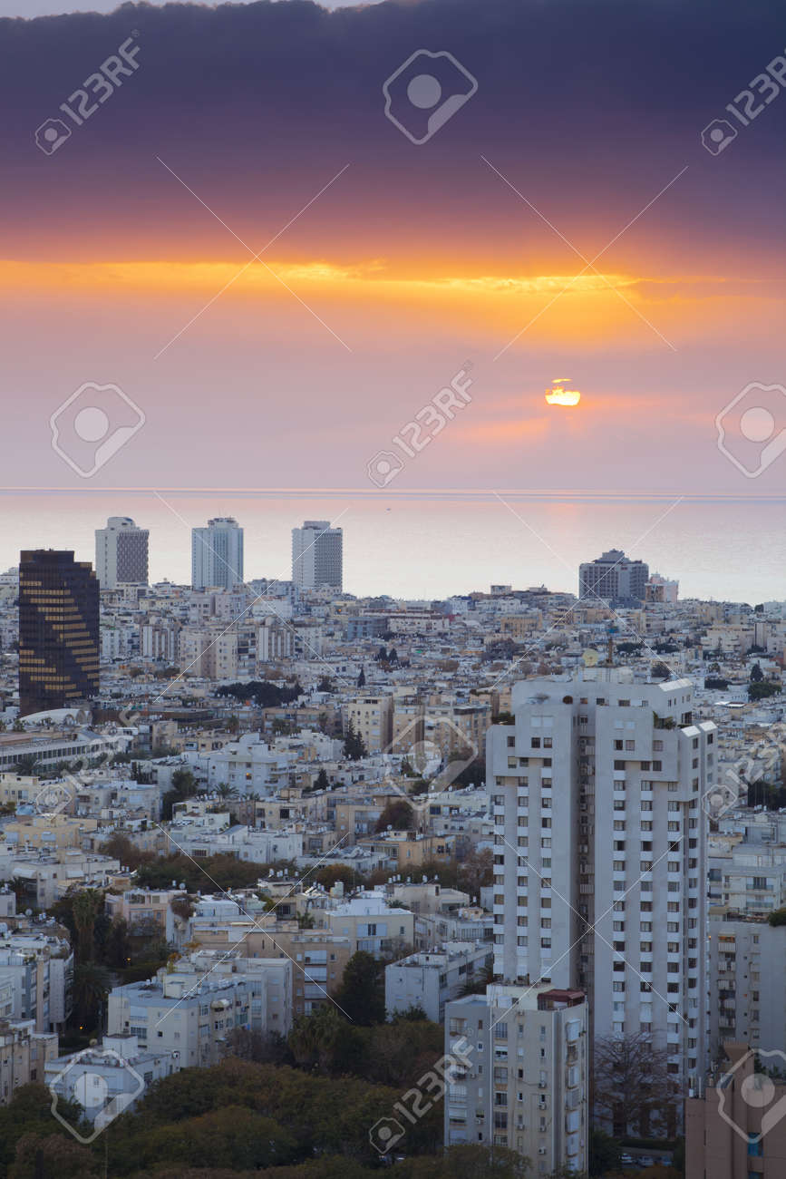 Tel Aviv at sunset, Israel Stock Photo - 9899863