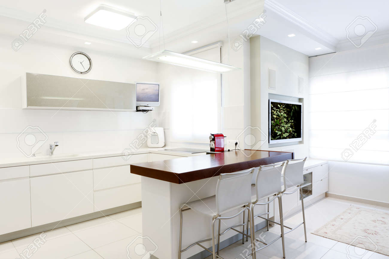 modern design kitchen with white elements note to reviewer modern design kitchen with white elements note to reviewer original picture in the tv screens
