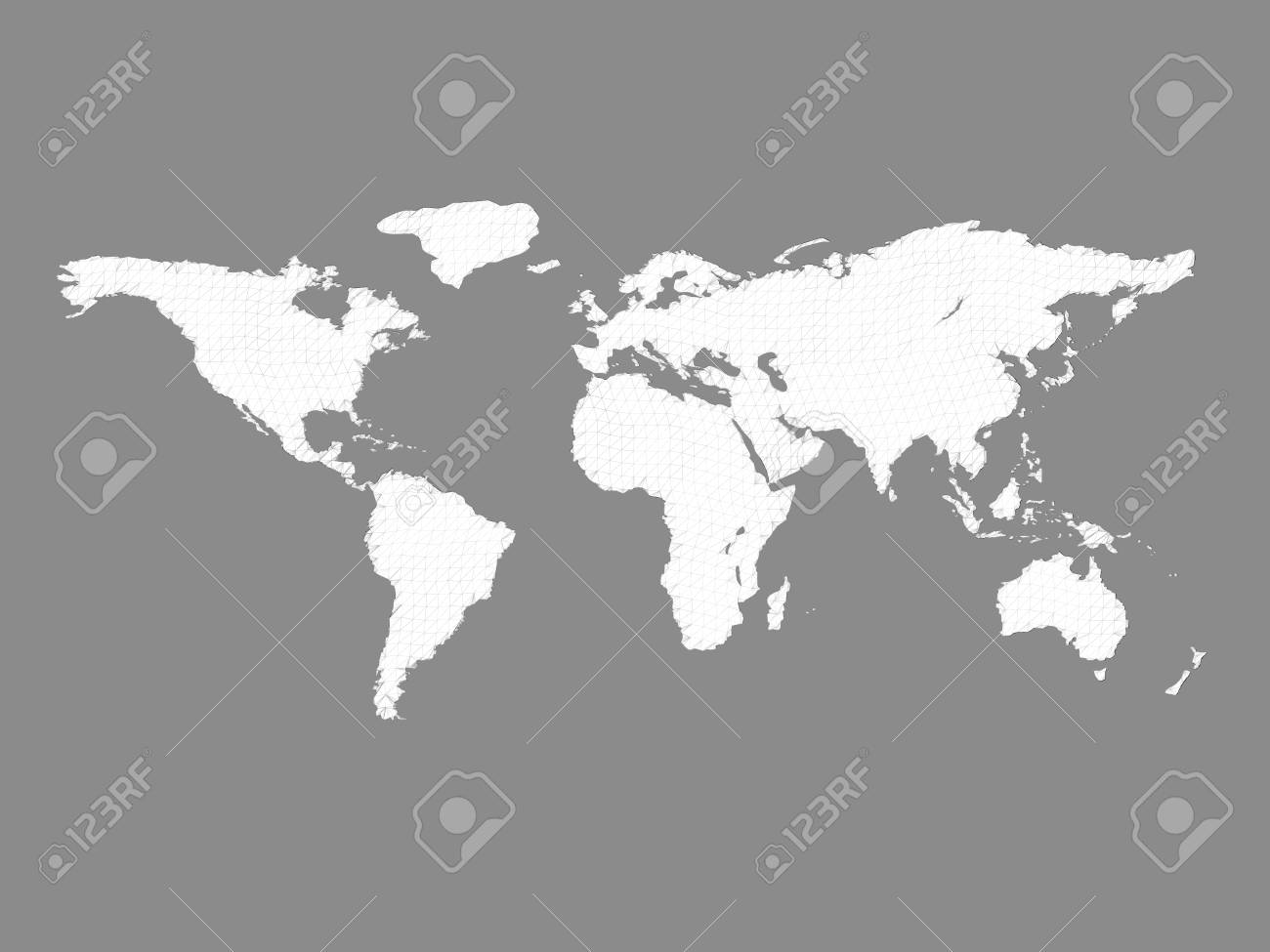 Polygonal world map vector illustration 3d the map is covered polygonal world map vector illustration 3d the map is covered with a geometric gumiabroncs Images