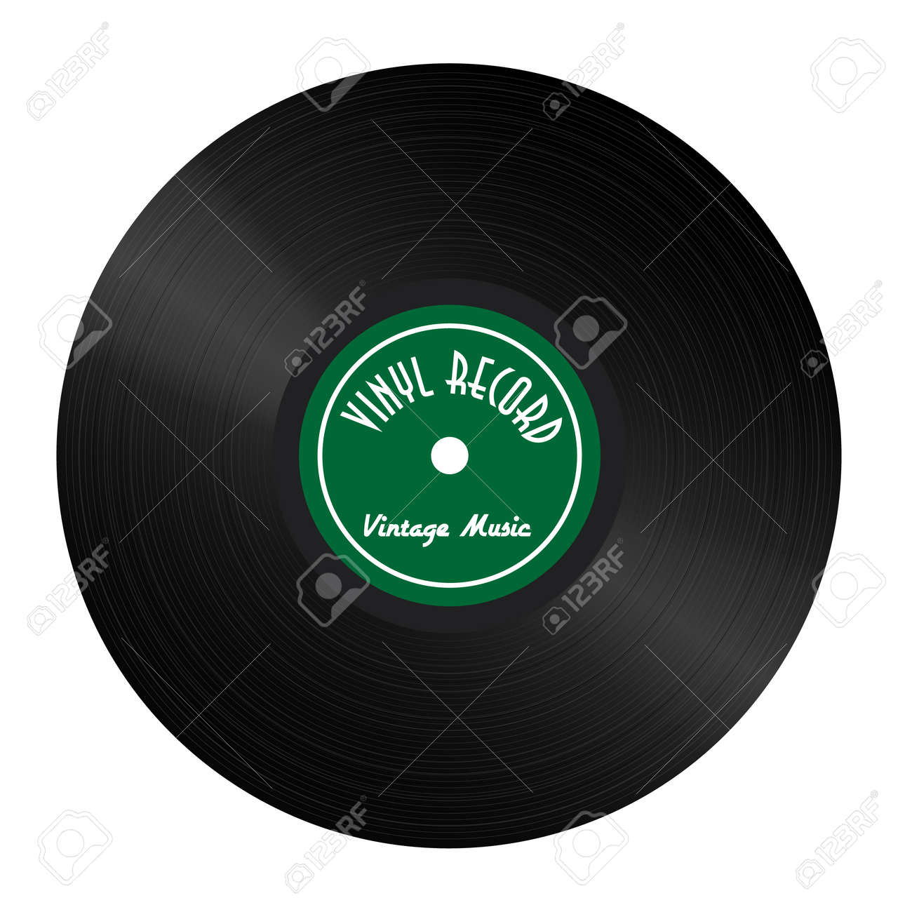 Vintage Vinyl Record with green label and highlights