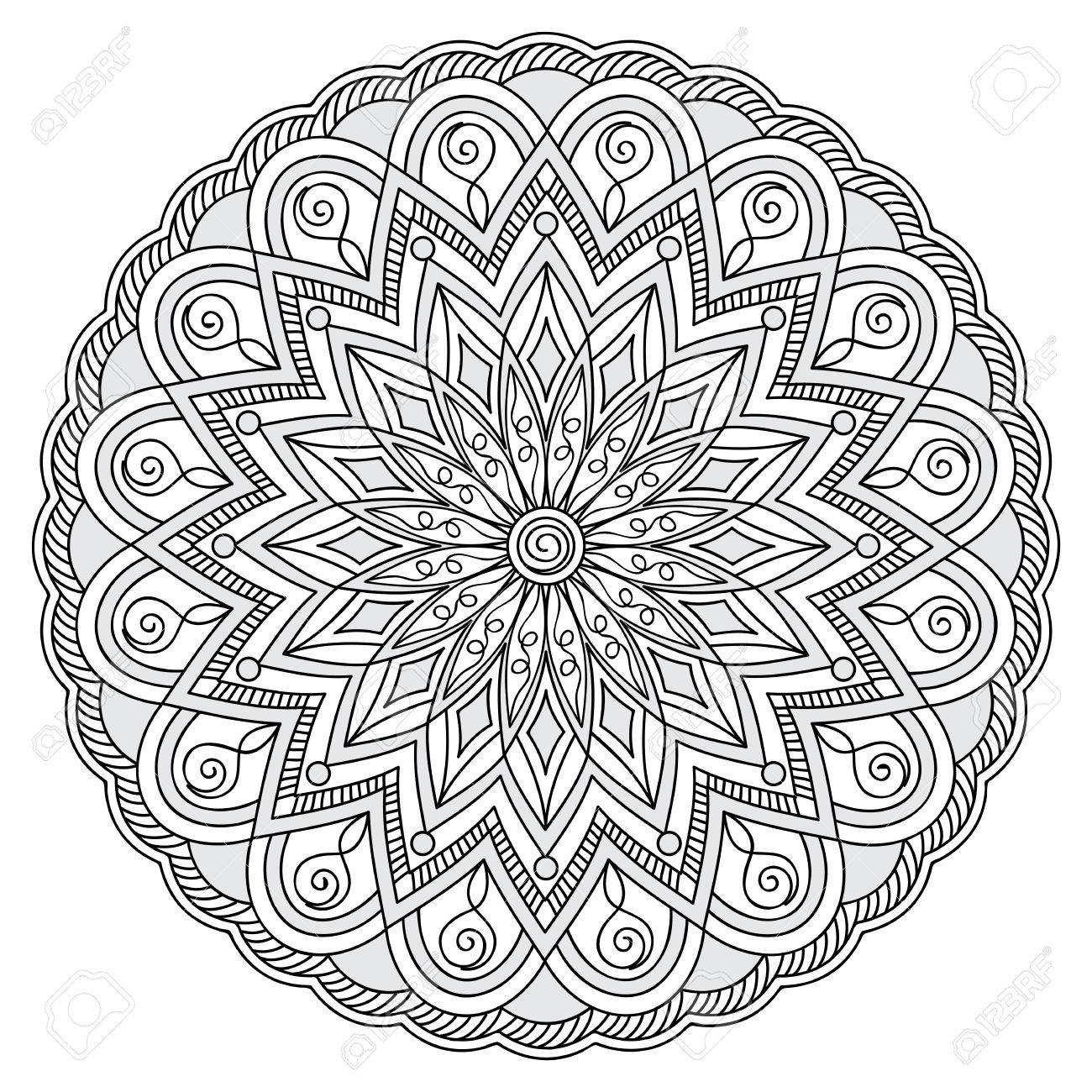 Mandala Mit Hand Gezeichneten Elemente. Bild Für Erwachsene Und ...