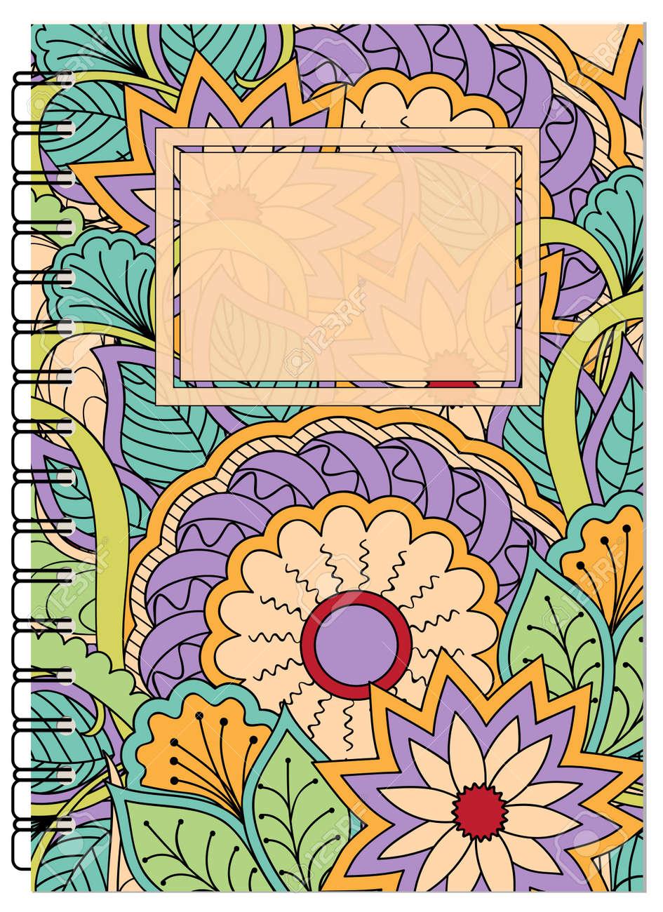 Patrón Enredado Dibujado Mano Del Zen Con Las Mandalas Y Las Flores Para Adornar El Libro El Cuaderno El Caso Los Efectos De Escritorio Mock Up De