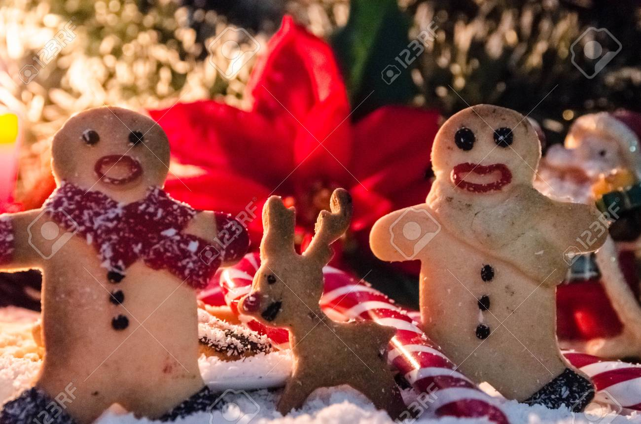Two cookie men and a raindeer Stock Photo - 24140664