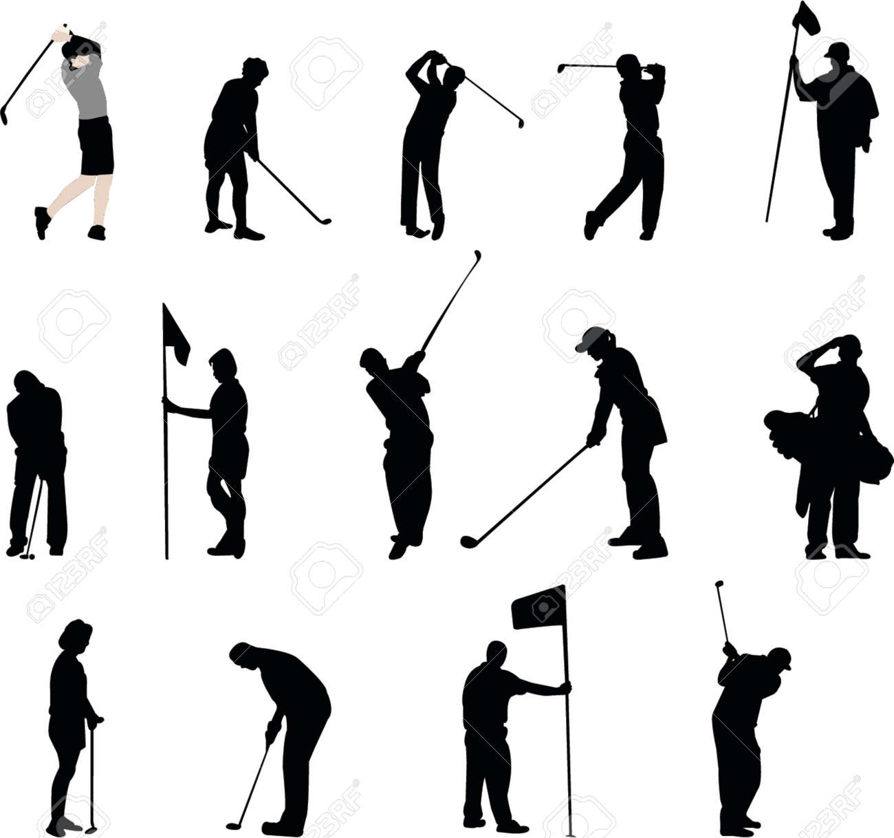 golf silhouettes Stock Vector - 866464
