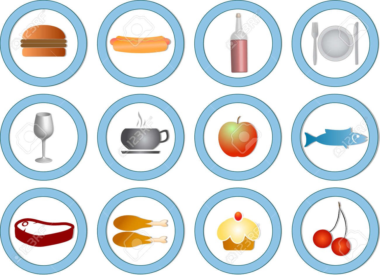 food and drink silhouettes Stock Vector - 4030213