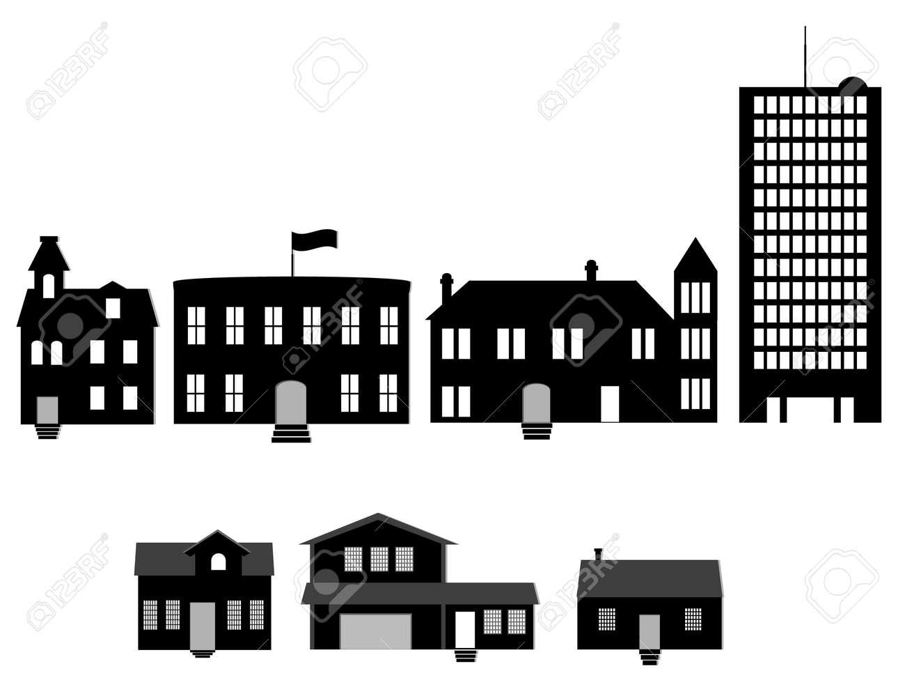 houses illustration Stock Vector - 4141194