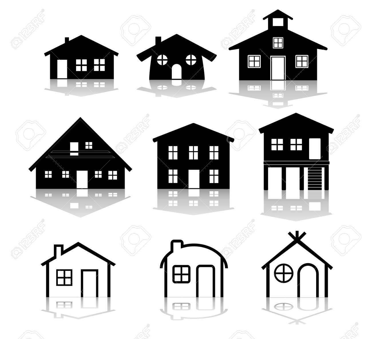 簡単な家のイラストのイラスト素材ベクタ Image 5188428