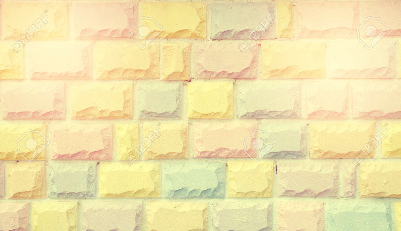 Color Vintage Pastel Brickwall Stock Photo, Picture And Royalty Free ...