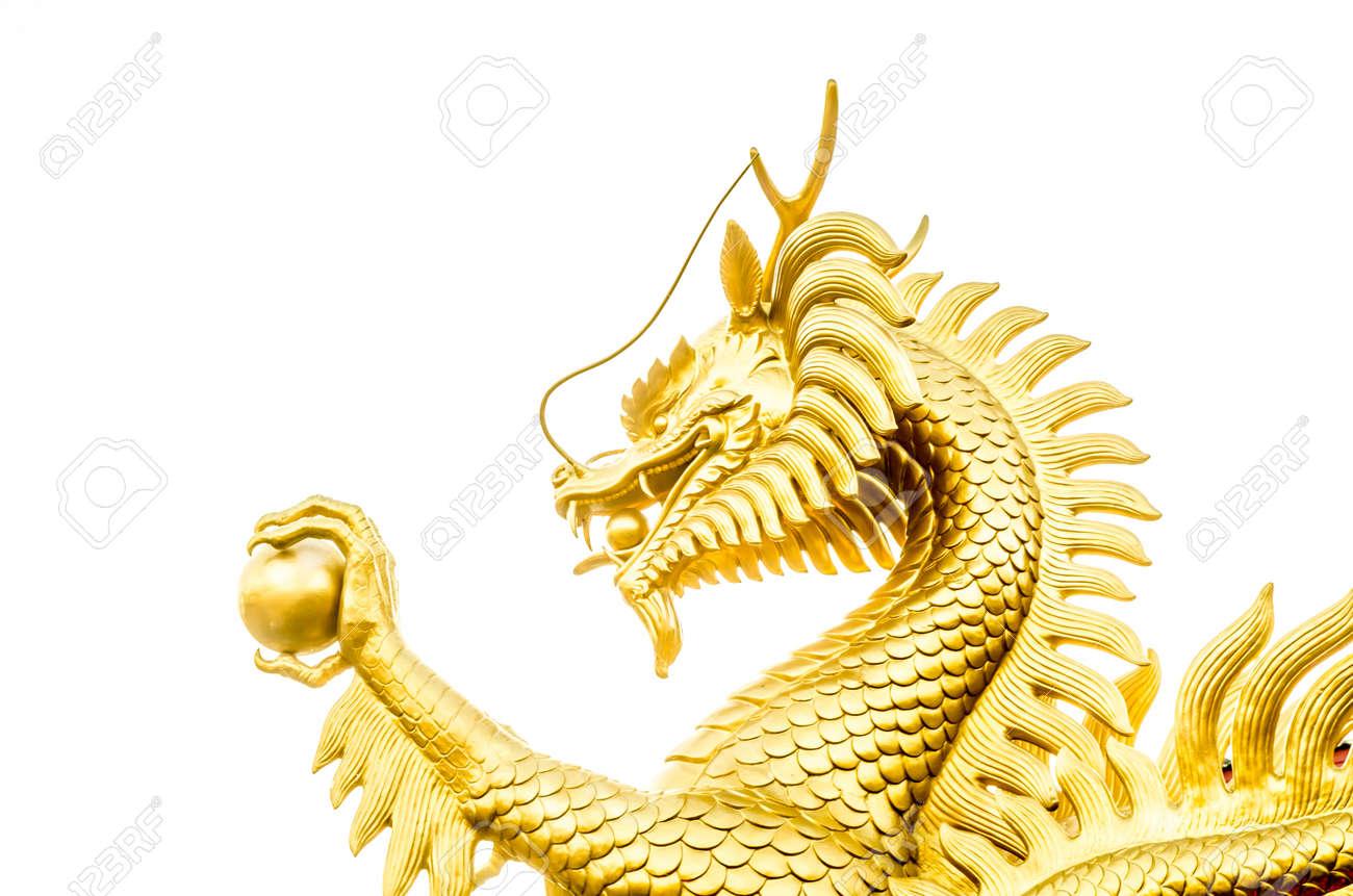 白い背景 (ドラゴン、中国語) の...