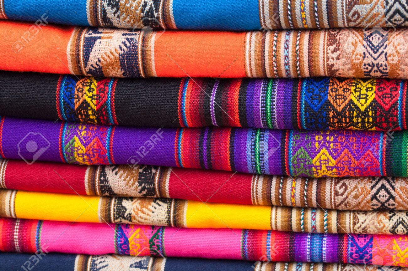 Immagini di stoffe colorate